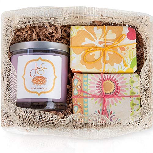 JenSan 3 Piece Candle and Soap Gift Set - Handmade