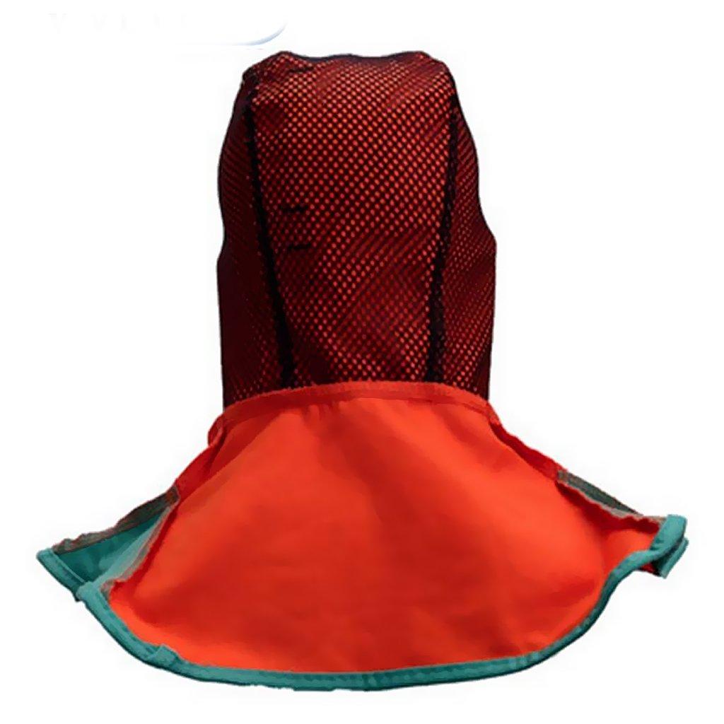 Blesiya Casco Safey Retardante A La Llama Capa Protectora Para El Cuello De Soldadura - naranja: Amazon.es: Bricolaje y herramientas
