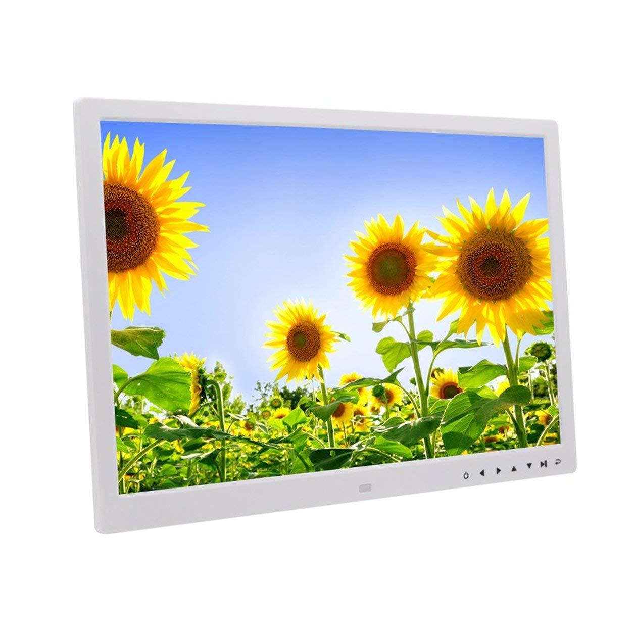 Cornice digitale HD da 17 pollici Pulsanti frontali digitali Schermo LED multi-lingua bianco