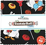 It's Tootsie Roll Time 5'' Stacker 42 5-inch Squares Charm Pack Riley Blake Designs 5-6810-42