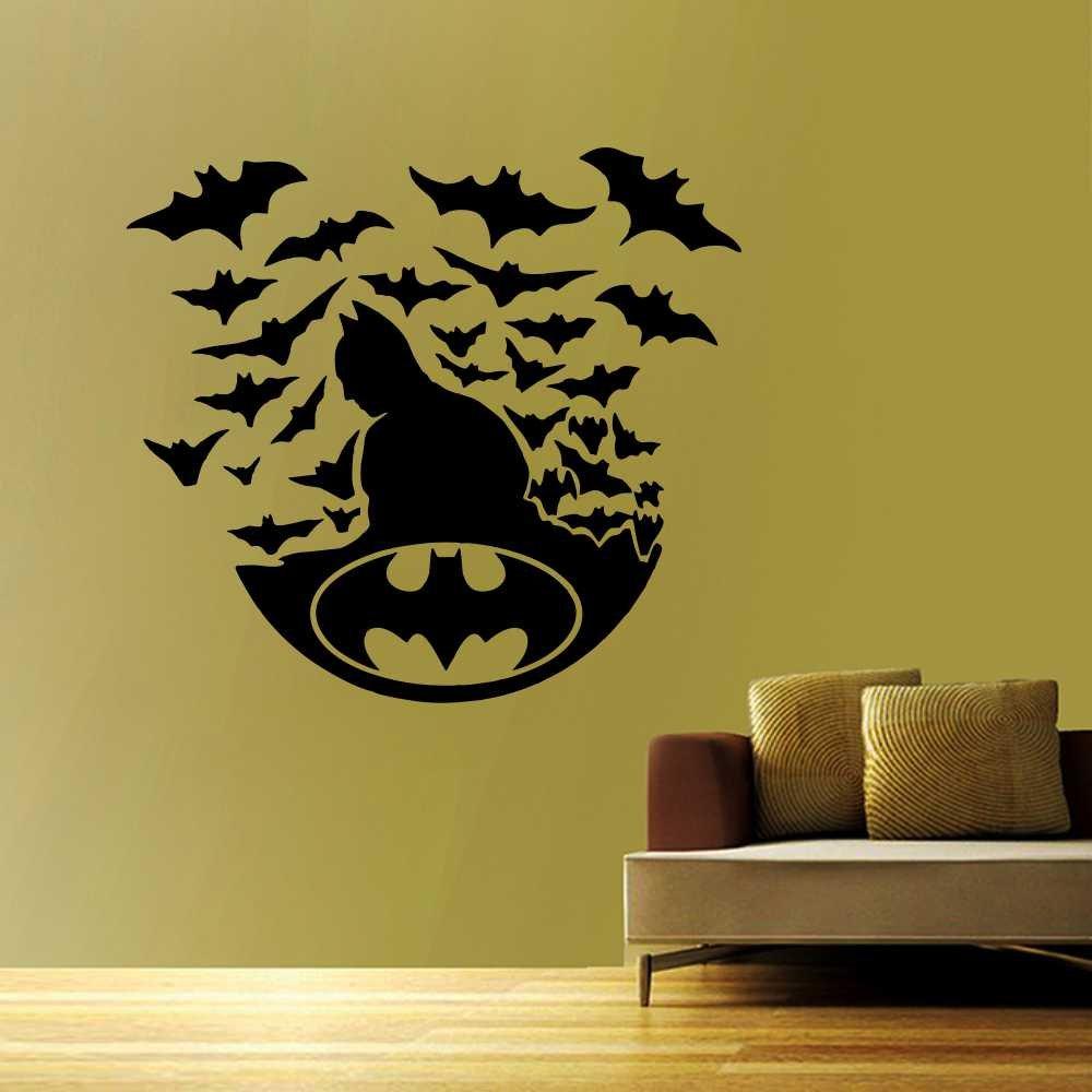 Wall Decor Wall Sticker Batman Decal Removable Home Decor Mural ...