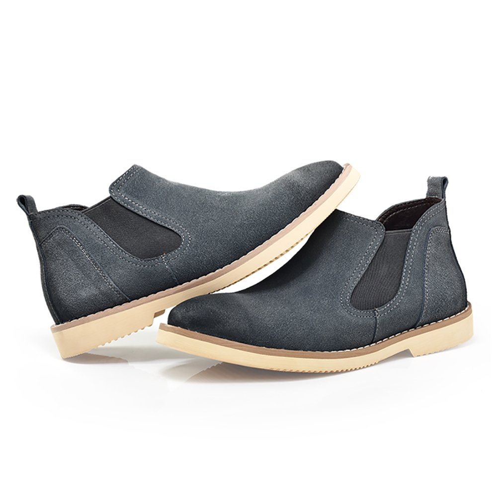 Mens Classic Suede Leather Chelsea Boots,Short Boots,Medium Boots Casual Leather Shoes high Martin Boots