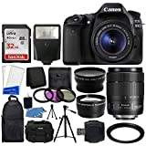 Canon EOS 80D DSLR Camera + Canon EF-S 18-135mm IS USM Lens + & 72mm 2x Lens & Wide Angle Lens + Slave Flash + 32GB Memory Card + 3 Piece Filter Set + Slave Flash + Accessory Backpack + Value Bundle