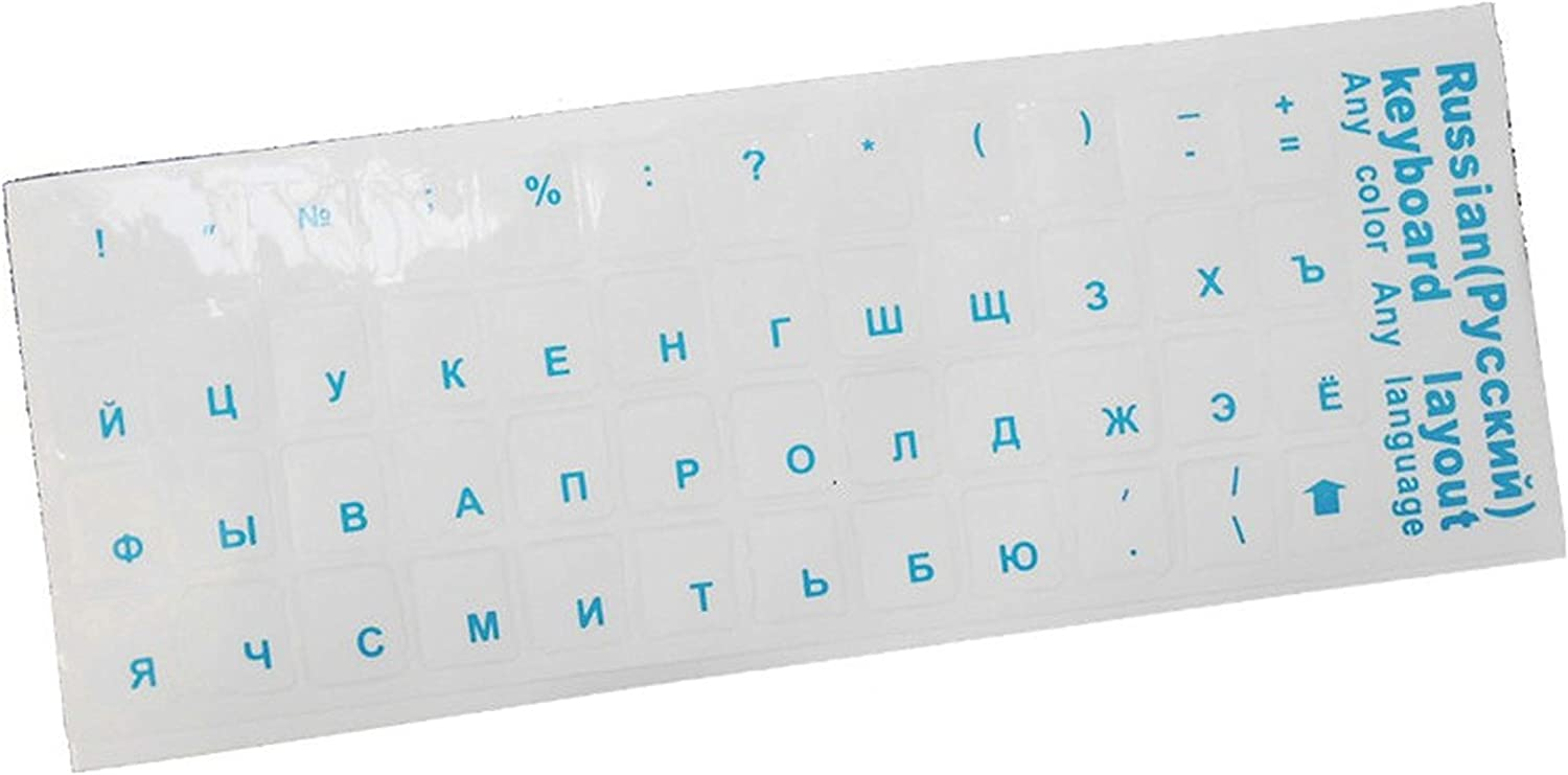 Clear Russian Laptop Transparent Keyboard Sticker Russian Language Letter Sticker Film with Light Color Laptop Keyboard Cover-one/_Color