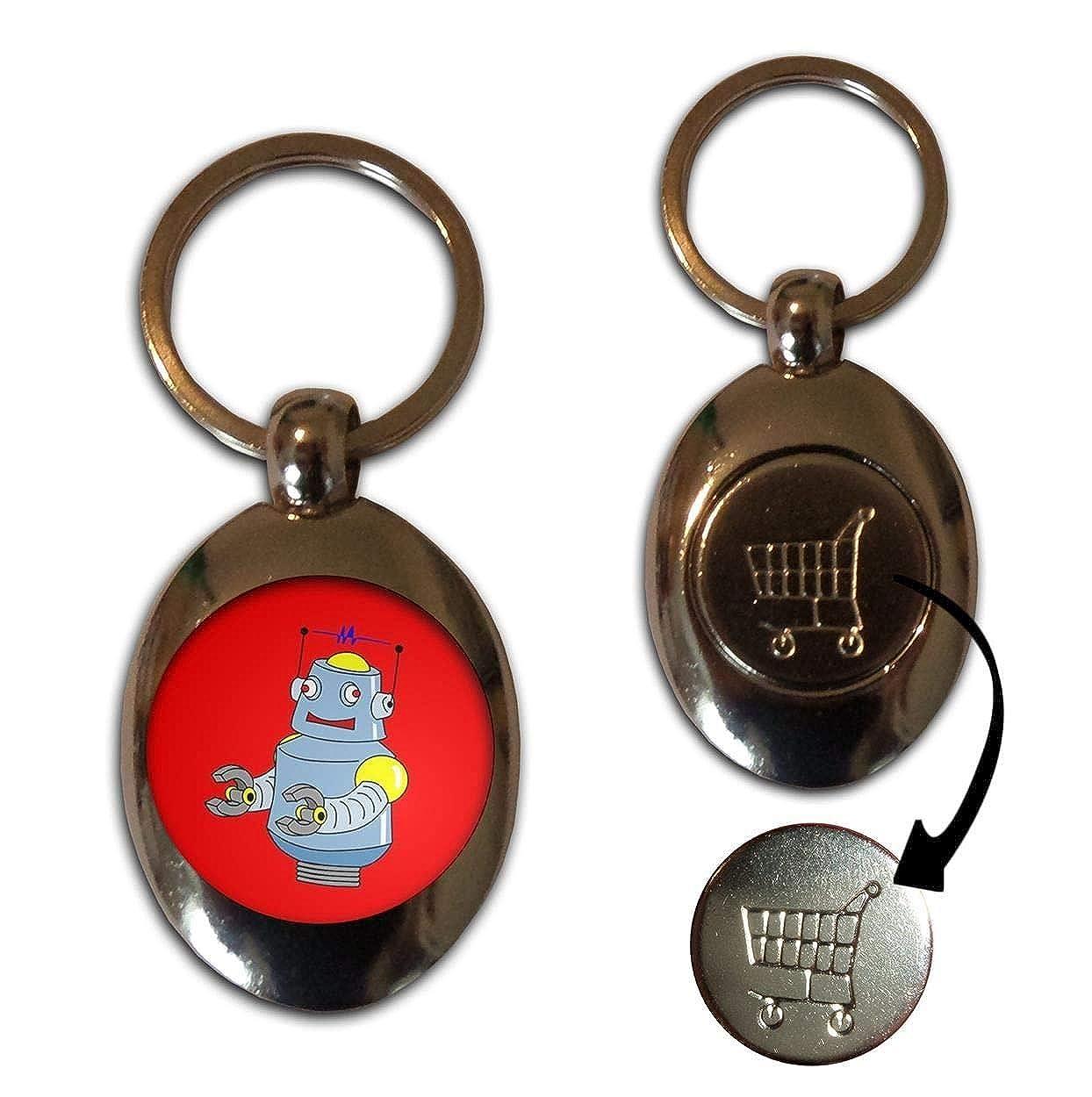 BadgeBeast.co.uk Red Boy Robot - Llavero de fichas de ...