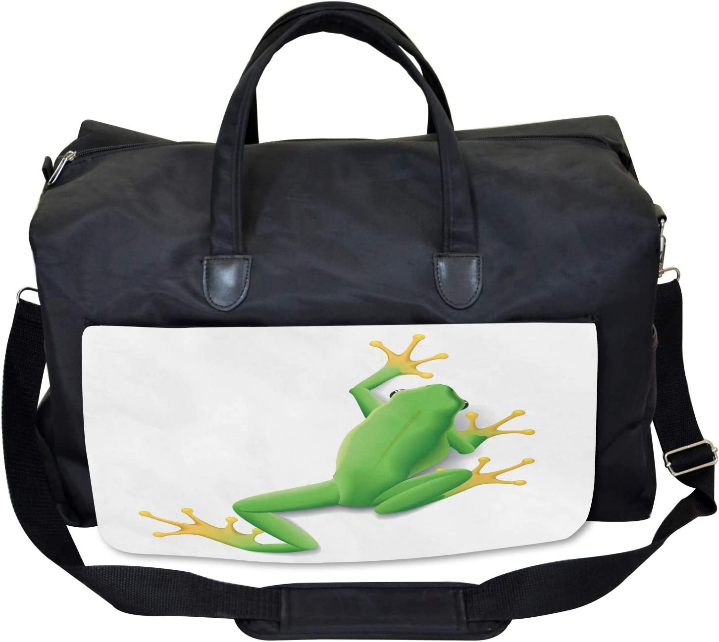Ambesonne Frog Gym Bag Large Weekender Carry-on Tropic Frog in Nature