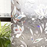 CottonColors ECO Window Films, 3D Static Decorative Environment Friendly,35.4In X 118.1In.(90 x 300Cm)