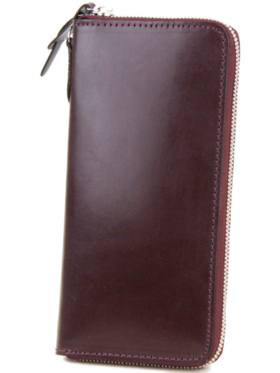 [コルボ] CORBO. 長財布 1LD-0223 アコーディオン型 ラウンドファスナー フェイス ブライドルレザー face Bridle Leather B005Q6EH6Q ワイン ワイン