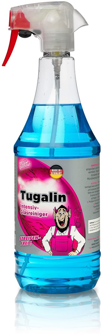TUGA Tugalin Nano detergente per vetro, flacone spray 1000 ml Glas Reiniger