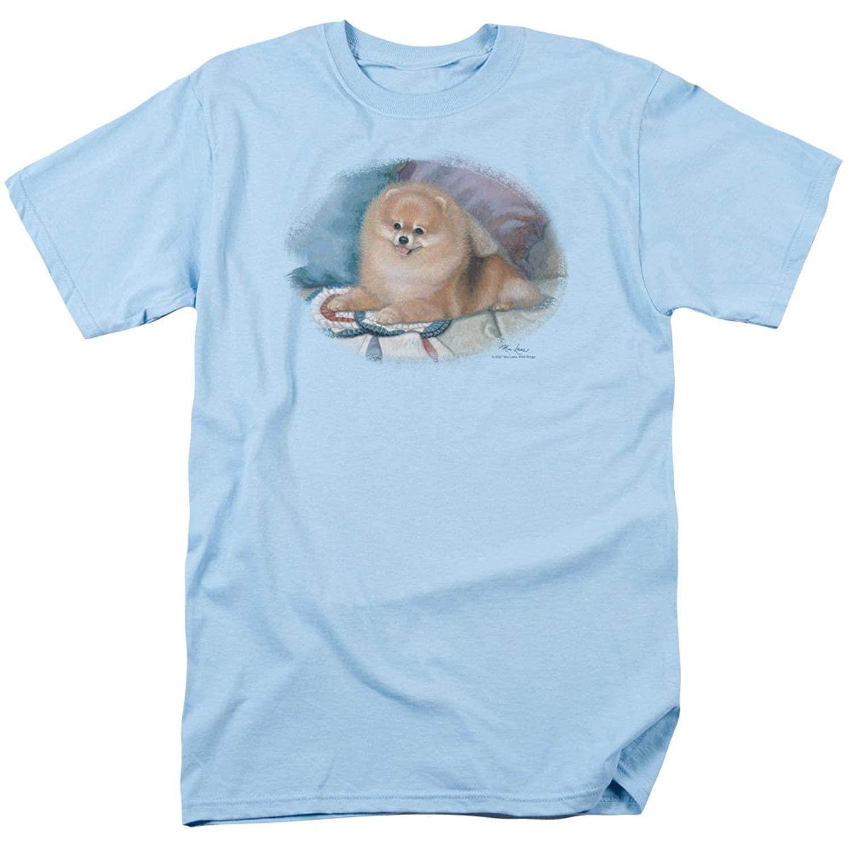 Wildlife Wild Animals Nature Pomeranian Puppy Portrait Adult T-Shirt