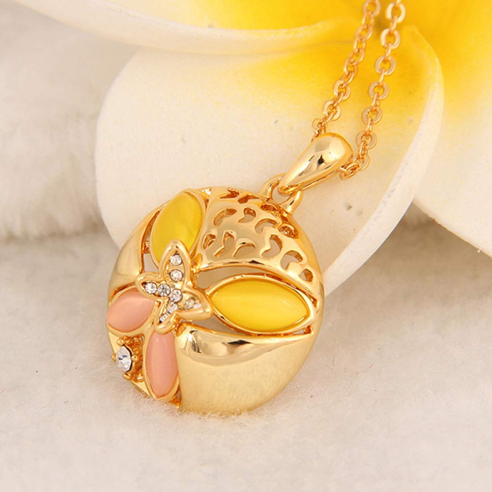 MYYQ Women Necklace Pendant,Fashion Necklace Crystal Diamond Classic Girl Opal Pendant Jewelry