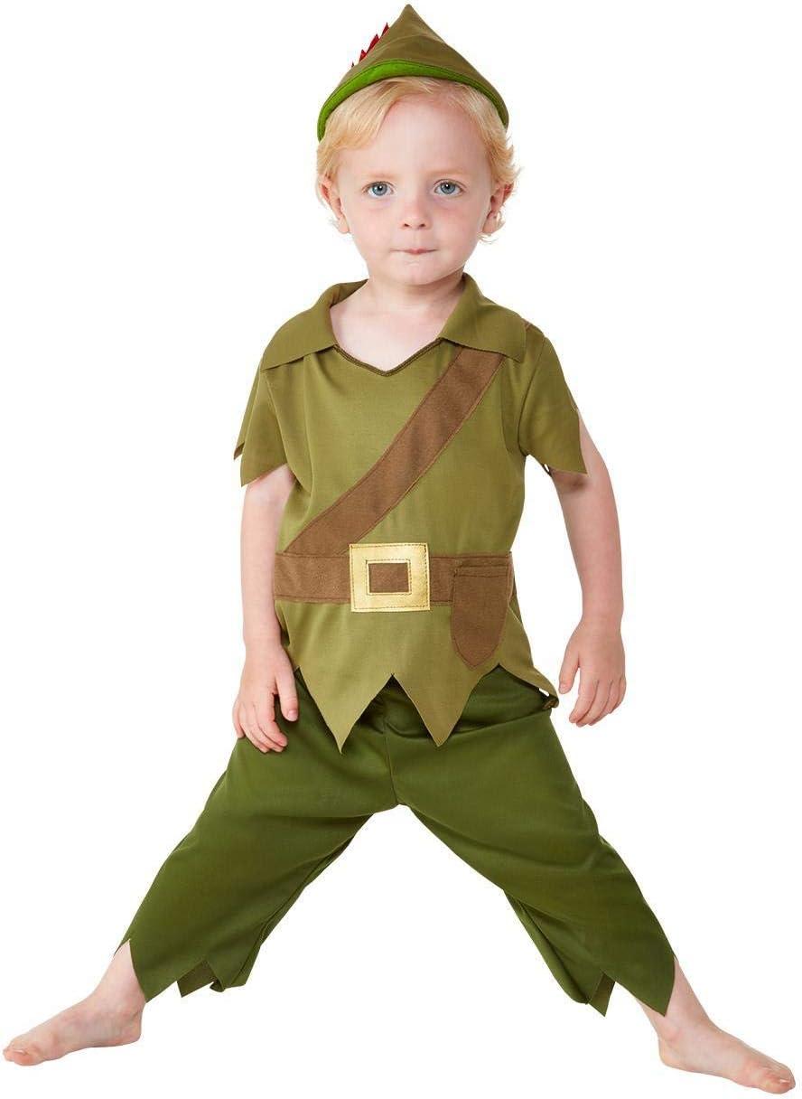 Smiffys 47696T1 - Disfraz de Robin Hood para niño, color verde y ...