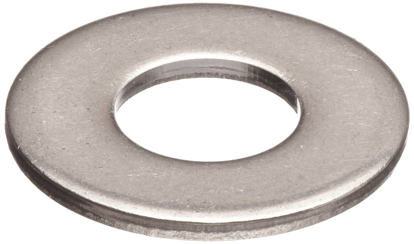 316 Stainless Steel Flat Washer, 3/8'' Hole Size, 0.500'' ID, 1.125'' OD, 0.062'' Nominal Thickness, Made in US (Pack of 50)