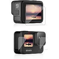 AFAITH Screen Protector voor GoPro Hero 9 Zwart, Ultra Clear Gehard Glas Screen Protector + Gehard Glas Lens Protector…