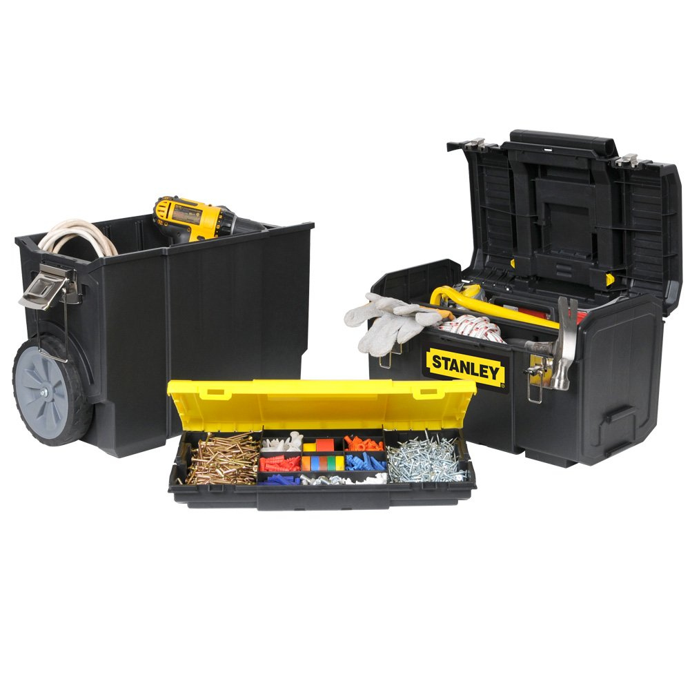 18-Inch STANLEY STST18613 3-in-1 Mobile Workcenter Black//Yellow