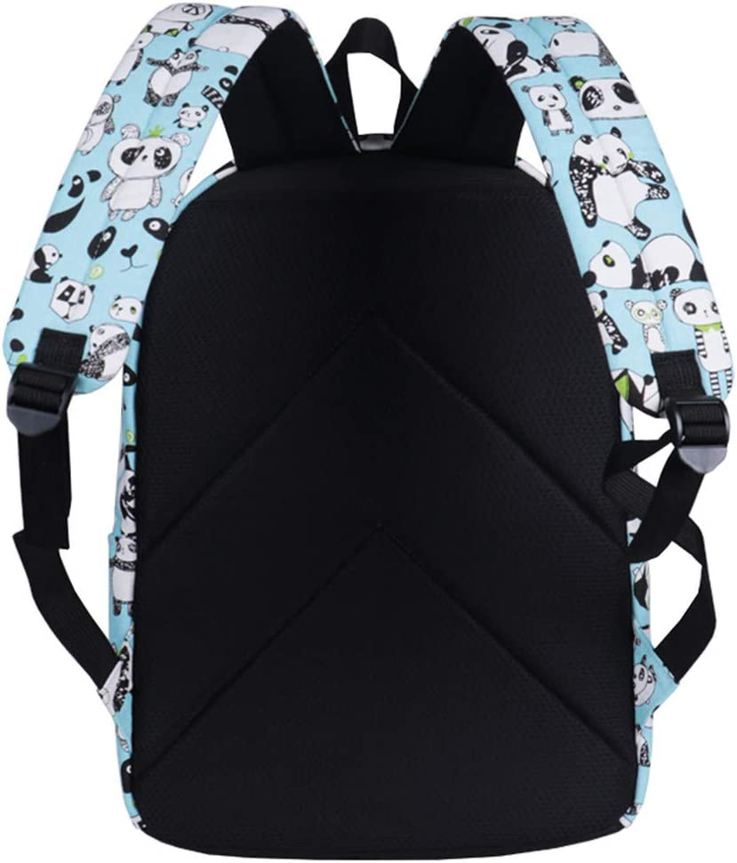 Panda Print Backpack Teen Girl Rucksack