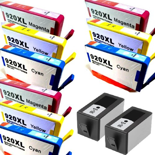 HouseOfToners High Yield Remanufactured Ink Cartridge Replacement for HP 920XL (CD975AN) (2xBlack, 3xCyan, 3xYellow, 3xMagenta, 11-Pack)