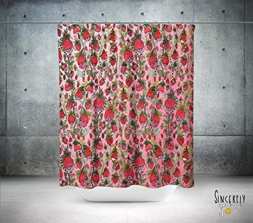 Colorful Strawberry Friends Shower Curtain Bathroom Set