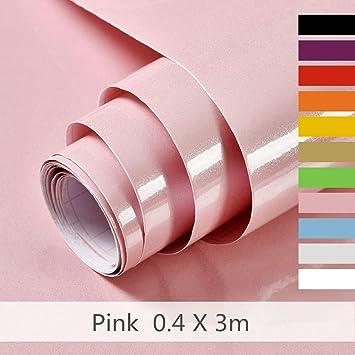 Papier Adhesif Rose Pour Meuble,Cuisine,Porte,Mur, Stickers Meuble  40cmX300cm,