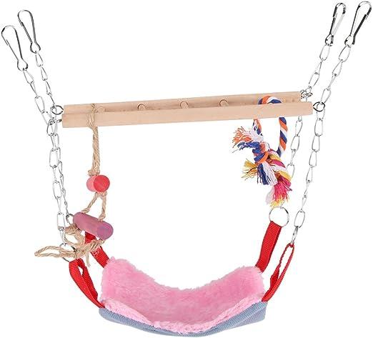GLOGLOW Loro Escalera Flexible, Colorido Mascotas Aves Escalada Juguete Colgante Paso Loro Escalera Columpio Puente Jaula de pájaros Accesorios Decorativos(Rosa): Amazon.es: Productos para mascotas
