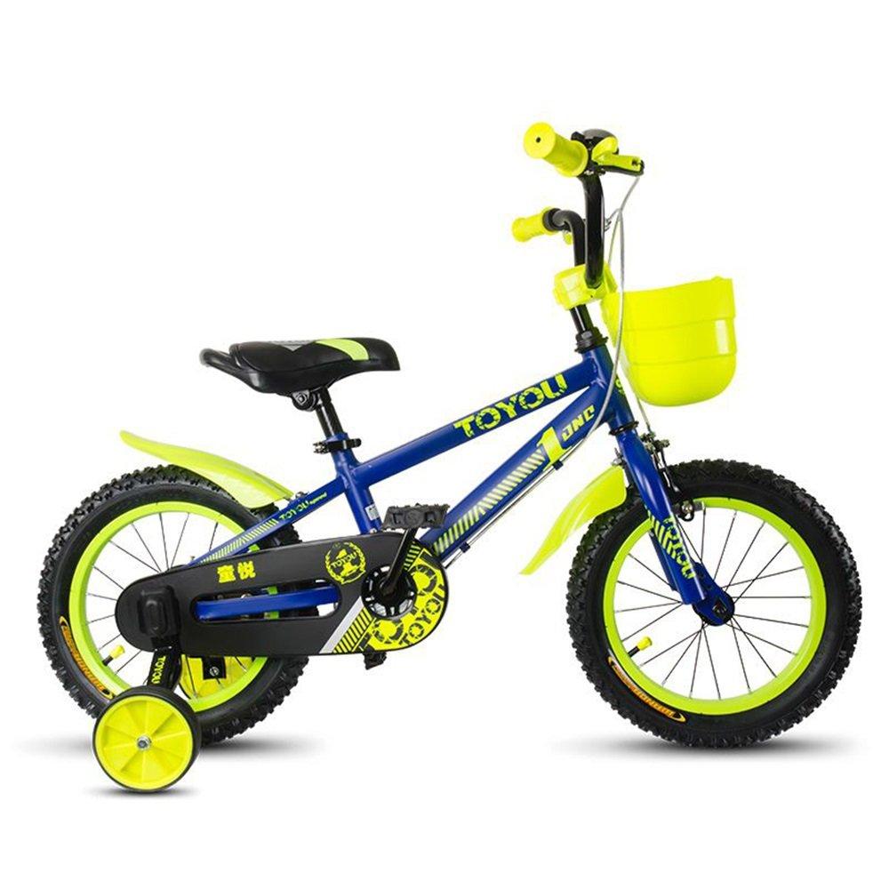 美しい 家子供用自転車、12/14/16/18インチベビーガールサイクリング、3-10歳の子供ベビーキャリッジ (色 : 青, サイズ さいず : 120cm) B07CXLD6Q9 120cm|青 青 120cm