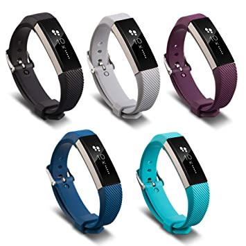FUNKID Replacement for Smartwatch Wristbands Fitbit Ace Children Kids  Adjustable Bands Colorful 5 Pack