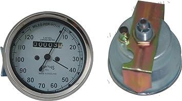 Vintage Replica Smith Speedometer 0-80 Mph BSA Royal Enfield Norton Chrome Rims