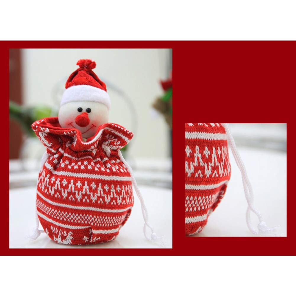 YaptheS Christmas Apple Bag Cute Snowman Doll Knitted Candy Cookie Bag Pendant Kids Xmas Gift Party Decoration Christmas Gift by YaptheS (Image #3)