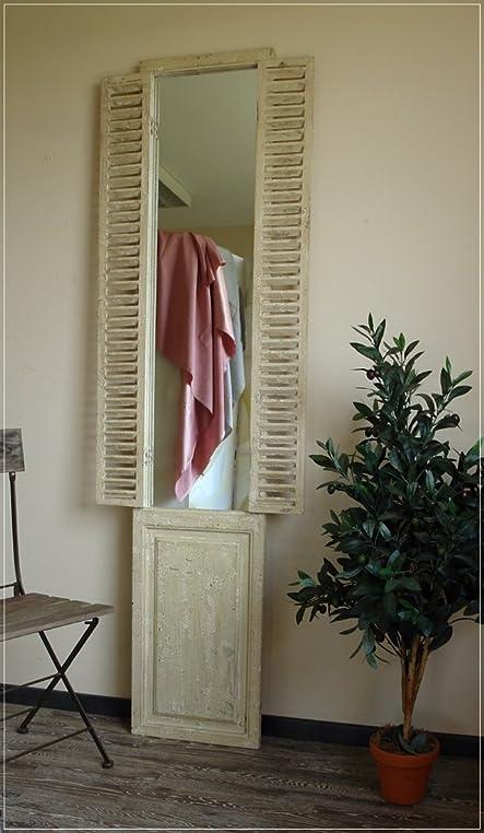 Hoher Wandspiegel im Antik-Stil mit Fensterladen: Amazon.de: Küche ...