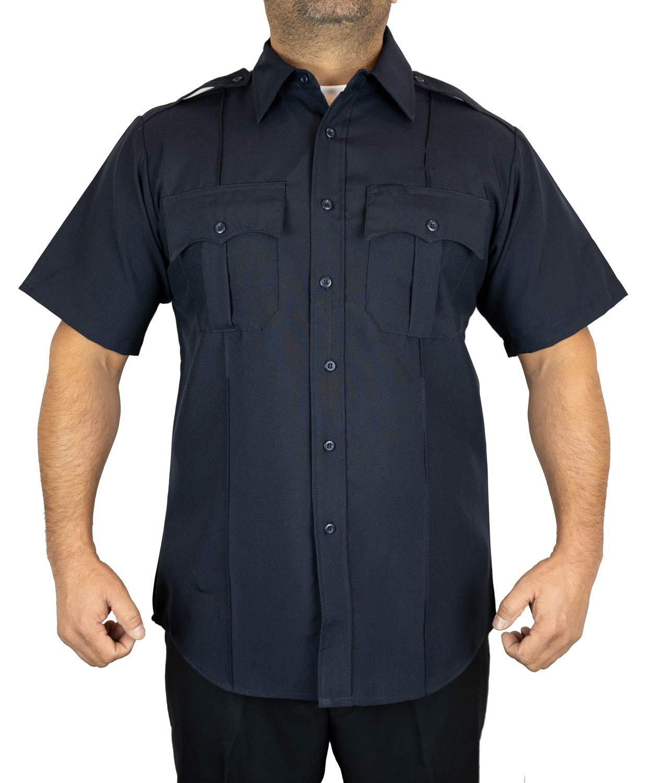First Class Short-Sleeve Uniform Shirt M Navy Blue by First Class
