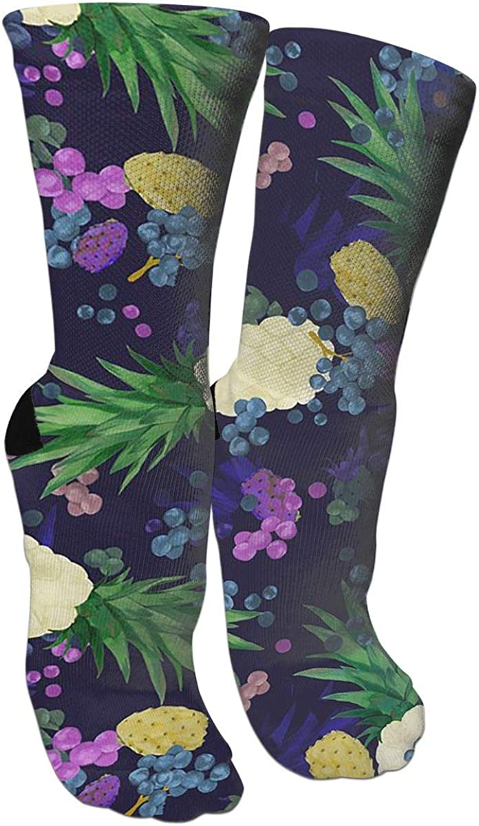 Colorful Fruit Casual Socks Cotton Crew Socks Crazy Socks For Sports And Travels