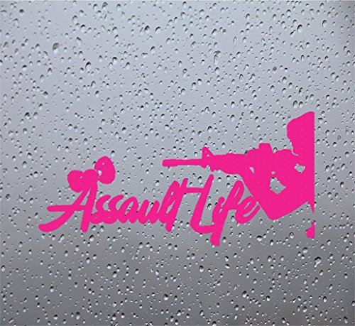 Assault Girl (Girl Assault Life Car Decal/Sticker (6 INCH, PINK))
