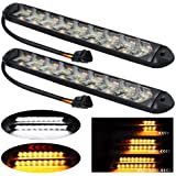 YEERON 2 In1 Fuction Arrow LED DRL Strip Switchback Dual-Color Amber/White Waterproof LED Flexible Lights for DRL & Turn Sign