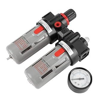 Compresor de presión de aire Filtro PT1 / 4 Gauge Trampa Aceite Regulador de agua Kit