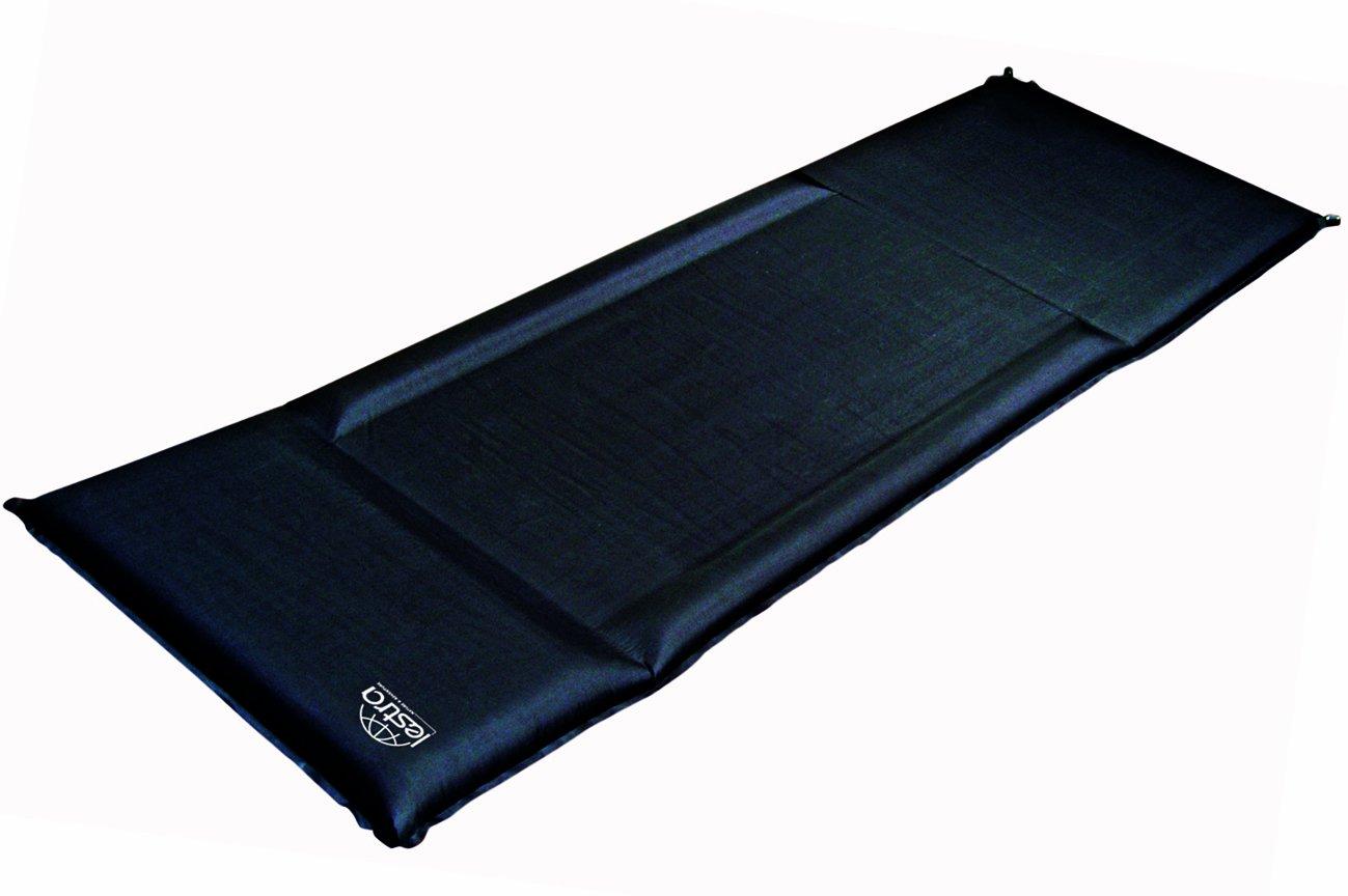 Lestra selbstaufblasende Isomatte Sleep Premium, schwarz, 196 x 63 x 3,8 (6,3/5) cm