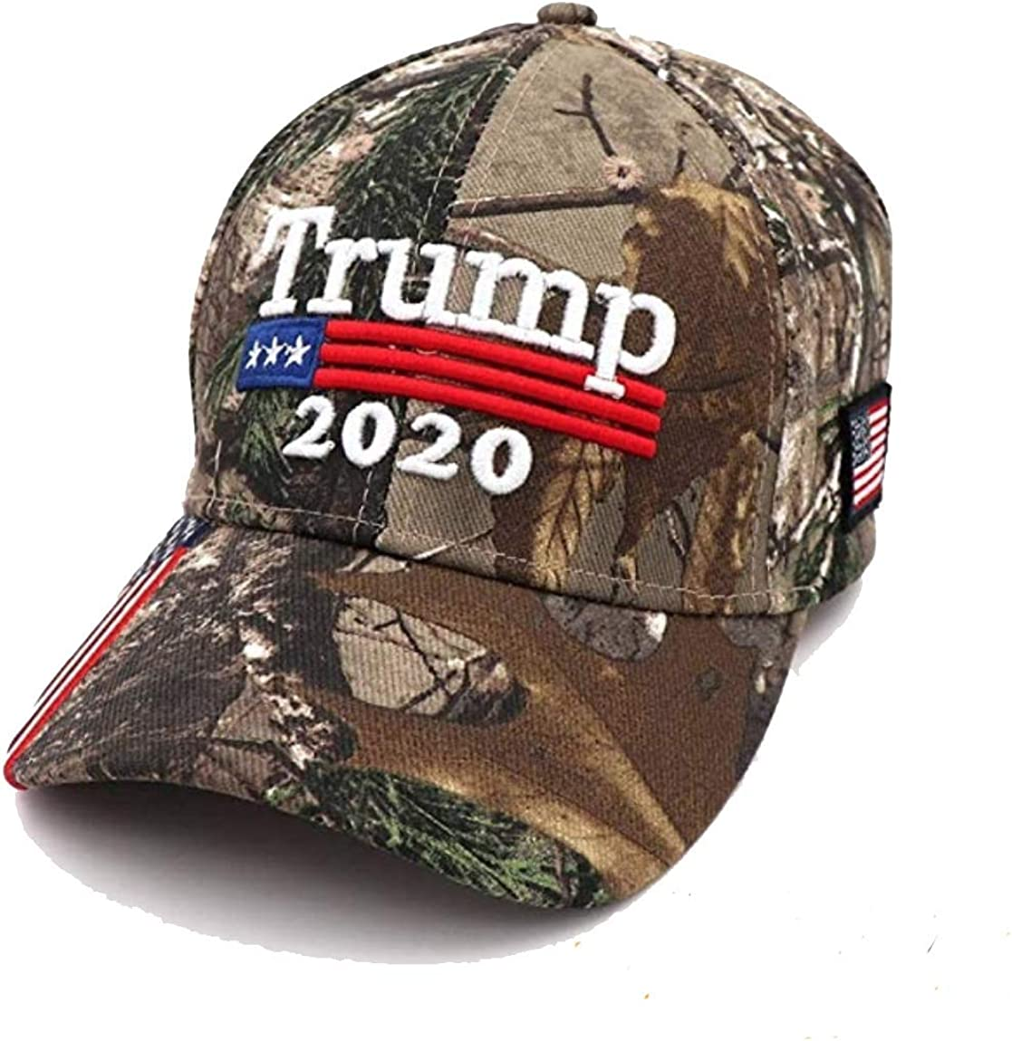 Donald Trump 2020 Keep America Great Embroidered CamoUSA Brim Adjustable Hat