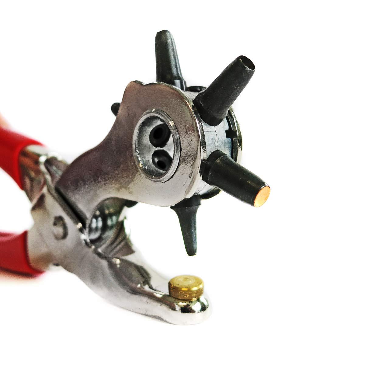 S&R Alicates Sacabocados Perforador Cuero y Cinturas / MADE IN GERMANY / Sacabocados con 6 punzones ovales de 2/2, 5/3/3, 5/4/5 mm S&R Industriewerkzeuge GmbH