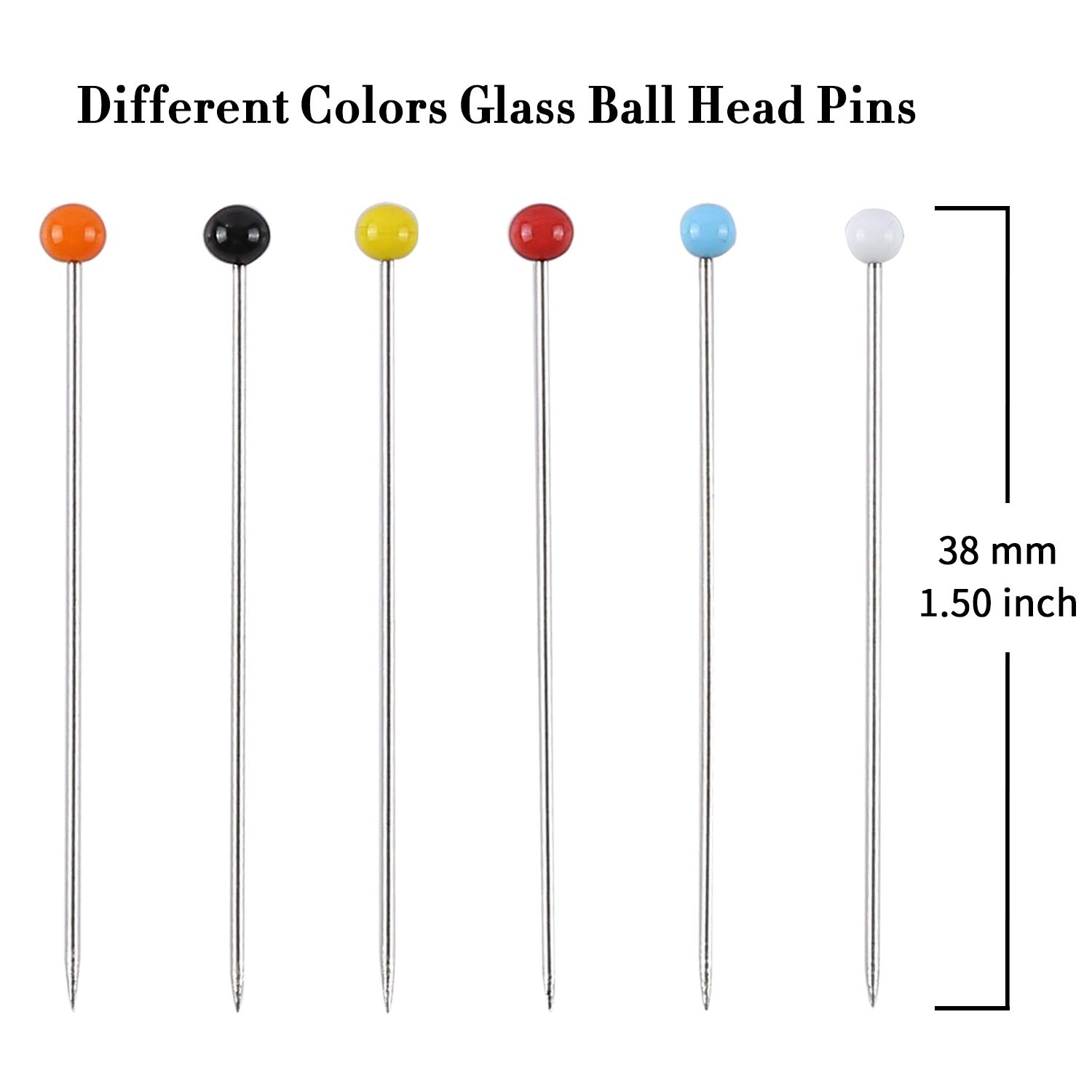 Pin Cushion and Soft Tape Measure for Dressmaking Jewelry Components Flower Decoration Perzodo 250 Pieces Sewing Pins with Color Glass Ball Head Pins Including Sewing Seam Ripper