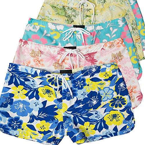New 5-Pack Junior Board Shorts, Assorted Prints, Swim/Beach Wear 414 for cheap