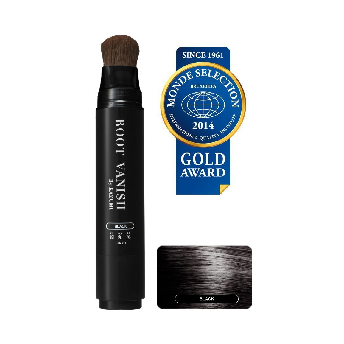 ROOT VANISH BY KAZUMI in Black Instantly Camouflages Gray Roots and Hair with Natural Anti-Aging Botanicals. 100 Click Pumps (20ml / 0.7oz) Lasts 2-3 Months. Carries You Over Between Salon Color Appointments.