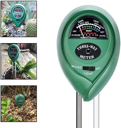 3 in 1 Soil PH Tester Water Moisture Light Test Meter Kit Garden Flower Plant UK