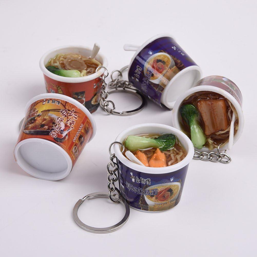 C-Pioneer 2pcs Simulation Instant Noodles Key Bag Phone Charms Pendant Decorative Hanging Decorations Personalized Ornaments