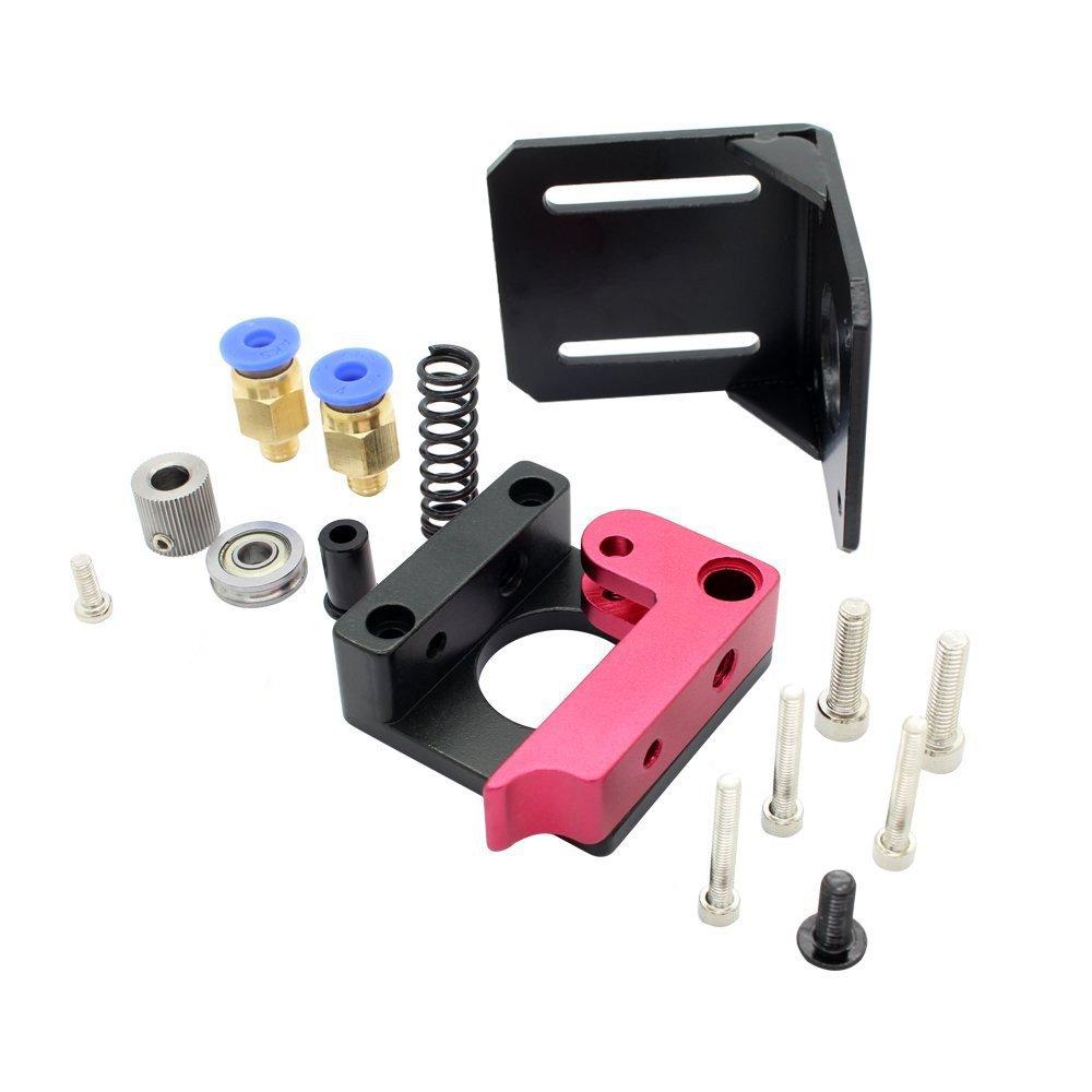 Version droite Redrex 1,75mm Filament MK8 Bowden Extrudeuse Cadre Bloc pour Reprap 3D Imprimante Kossel Mendel Prusa