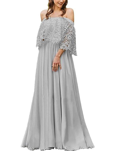 f74a8f5423c1 JAEDEN Abito da Sposa Vestito da Sposa Donna Boemia Abito da Sera Abito da  Spiaggia Chiffon  Amazon.it  Abbigliamento