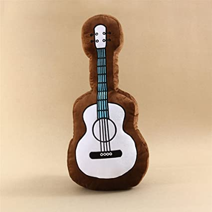 Guitar Pillow Stuffed Plush Toy Bed Sofa Pillow Cushion For Kids Children  Decorative Guitar Shaped Throw