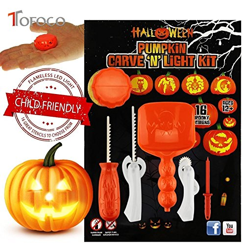 Zytree(TM) Funny 5pcs/set Halloween Pumpkin Carving Tool Toys For Kids Adult DIY Halloween (Creepy Pumpkin Stencils)