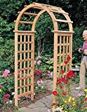 Arboria Victoria Garden Arbor Cedar Wood 7 Ft High  High With Arch Design