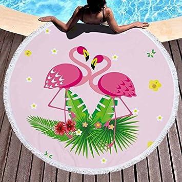 GSYAZTT Toallas de Playa Redondas Flamenco para servilletas para Adultos The Plague Toalla Playa Toallas de Playa Toallas de Microfibra Suave Toallas ...