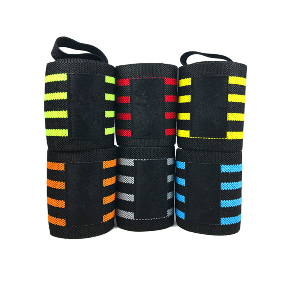 EraseSIZE A Pair Wrist Wrap Professional Grade with Thumb Loops Wrist Support Braces for Cross Training Yoga Weight Lifting General Workout
