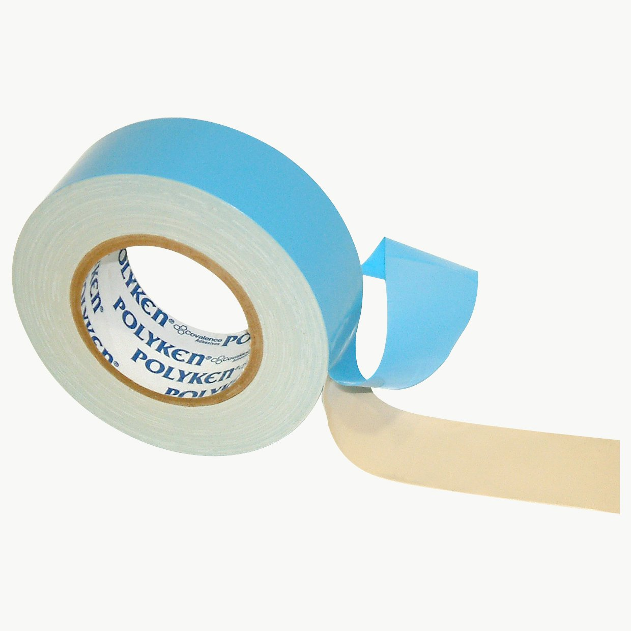 Polyken 108/NAT225 108 Flame Retardant Double Coated Cloth Carpet Tape: 2'' x 75 ft, Natural by Polyken (Image #1)